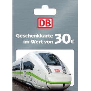 REWE/Penny: 30€-Geschenkkarte der Deutschen Bahn für 26€ (auch online in der REWE/Penny Kartenwelt)