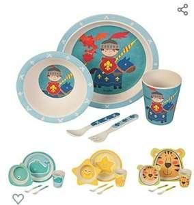 Kinder Bambus Geschirr für 12,90€ kaufen und 10€ Gutschein erhalten (Amazon Prime) - Kinderbesteck bpa-frei aus Naturmaterialien