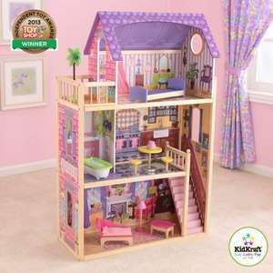 KidKraft Puppenhaus Kayla aus Holz,114 cm, mit Möbeln und Zubehör, mit drei Spielebenen für 30 cm große Puppen und zwei weitere [Amazon]