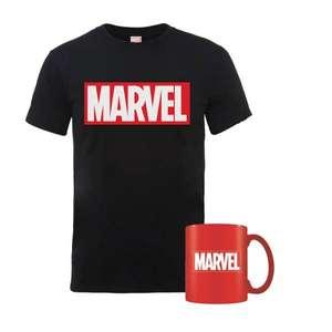 Marvel T-Shirt (für Frauen oder Männer, Gr. S-5XL, 100% Baumwolle) + Marvel Tasse, versandkostenfrei