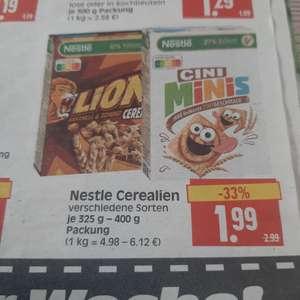 Edeka Center Herkules: Nesquick, Lion oder Cini Minis Crush Edition Cerealien für nur 0.99€ Dank Coupon.