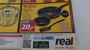 """Real offline v. 17.06 bis 19.06. - Tefal Pfannen-Set """"Simple Cook"""" 2-teilig ca. 20cm und 28cm lim. Stückzahl"""