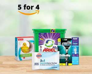 [Amazon] Drogerieprodukte - Nimm 5 Zahl 4 Aktion