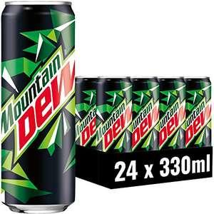 24x330 ml Mountain Dew Regular, Limonade mit Lemon-Lime-Geschmack, durch 5er Sparabo 12,13€ möglich (50 Cent pro) - Prime*Sparabo*