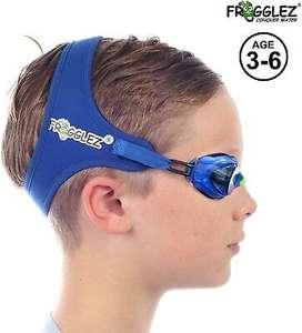 Frogglez Schwimmbrille für Kinder mit Kopfband für besseren Halt / auch in pink