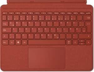 Microsoft Surface Go 2 Signature Type Cover, Mohnrot, DE (Alcantara, kompatibel mit Go 1 & 2)