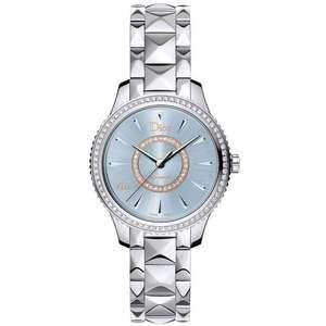 Dior Montaigne Quartz Blue Diamond Damen-Uhr CD152510M001 (32mm, 40h Gangreserve, Saphirglas, Diamant-Gesamtgewicht: 0.64 Karat, Swiss Made)