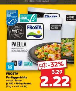 [Kaufland + EDEKA] Frosta Fertiggerichte 450-500g Beutel