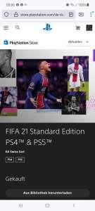 PSN Store FIFA 21 PS4/PS5