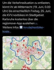 nextbike   1. Woche for free inkl. Entsperrung