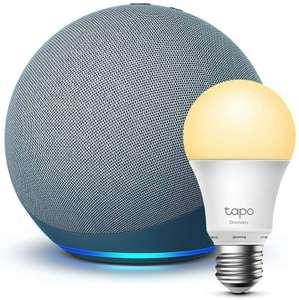 [Prime] Amazon Echo 4. Gen. (nicht Dot) inkl. TP-Link Tapo Smarte Lampe (E27)