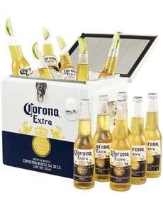Corona Extra Coolbox - Kühltruhe mit 12 Flaschen MEHRWEG Lager Bier Helles (12 x 0.355 l)