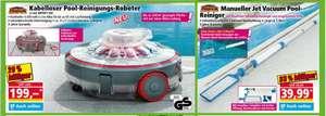 Pool Reinigungs Geräte Deal mit Extra, z.B. Mauk Pool-Reinigungs-Roboter Li-Ion MPRR1160