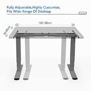 FlexiSpot EC5 Tischgestell (elektronisch höhenverstellbares Schreibtischgestell, Höhenverstellung 62 -127 cm, Farbe:Weiß / Schwarz / Grau)