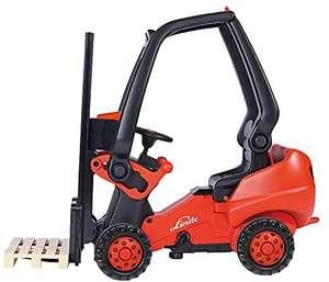BIG - Linde Forklift - Kindergabelstapler mit Präzisionskettenantrieb, verstellb.Sitz, bis 50 kg, Linde Lizenz, ab 3 J. [Prime Day]