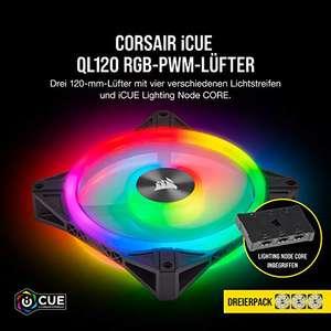 Corsair iCUE QL120 RGB, 120-mm-RGB-LED-PWM-Lüfter (Primeday)