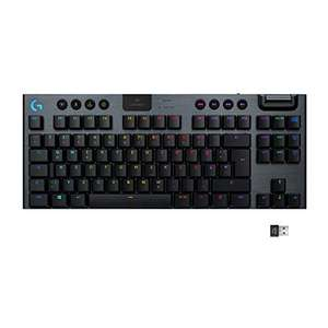 (Amazon Prime) Logitech G915 LIGHTSPEED TKL Gaming-Tastatur, Taktiler GL-Tasten-Switch, LIGHTSYNC RGB, 40h Akkulaufzeit, QWERTZ