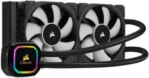 Corsair iCUE H100i RGB PRO XT CPU-Wasserkühlung (2x 120-mm ML PWM-Lüfter, 400-2.400 RPM, Multi-LED-Pumpenkopf, Temperatursensor) [Prime]