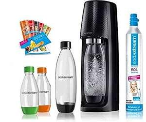 SodaStream Easy Wassersprudler-Set Vorteilspack, 2x 1 L PET-Flasche, 2x 0,5 L PET-Flasche mit CO2- Zylinder