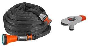 [Prime] Gardena Textilschlauch Liano Set 10m inkl. Indoor-Adapter: flexibler und robuster Gartenschlauch aus Textilgewebe