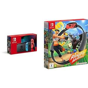 Nintendo Switch Konsole - Neon-Rot/Neon-Blau + Ring Fit Adventure Switch [Amazon Prime]