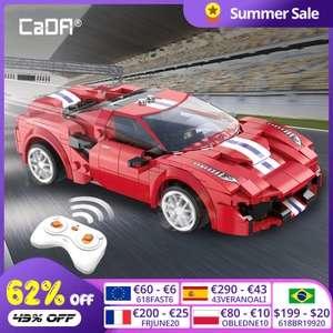 Cada 488 Sports Car - Racing Auto mit Fernsteuerung RC Klemmbausteine Set