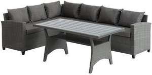 Lounge-Set ULLEHUSE 6 Pers. grau Polyrattan (Lokal)