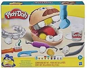 Play-Doh Zahnarzt Dr. Wackelzahn, mit Kariesknete und metallfarbener Knete, Amazon Prime