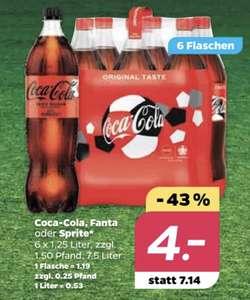 Netto Scottie   6x1,25l Coca-Cola für 4€