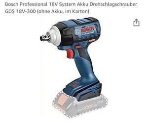 [Prime] Bosch Professional 18V System Akku Drehschlagschrauber GDS 18V-300 (ohne Akku, im Karton)