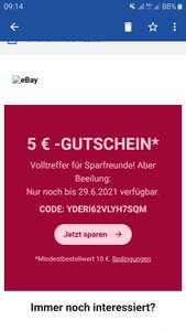 5€ eBay Gutschein bei 10€ Mindestbestellwert - personalisiert
