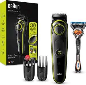 Braun Bartschneider BT3241 (Trimmer, 80 Min. Akku, 39 Längenstufen) inkl. Gillette Fusion 5 ProGlide Rasierer [Prime oder Abholstation]