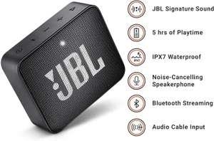 JBL GO 2 in Schwarz – Wasserfester, portabler Bluetooth-Lautsprecher mit Freisprechfunktion