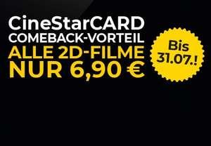 [CineStarCARD] Alle 2D-Filme für 6,90€