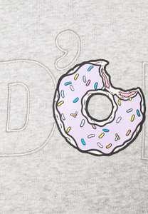 [Zalando] adidas x Simpsons Hoodie mit DOH Print in Grau & Schwarz