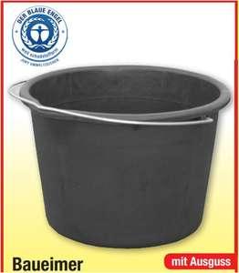 Baueimer mit Ausguss 12 Liter für 89 Cent oder 20 Liter für 1,69 Euro (Blauer Engel) [Zimmermann Filiale]