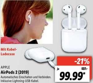 Lidl Lokal Stuttgart, Kassel, Kerpen und weitere Standorte: Apple Airpods 2 für 94,99€ - ab 05.07. bzw. 08.07.