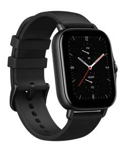 Amazfit GTS 2e Smartwatch GPS HR-Sensor Alu-Gehäuse, schwarz, Amoled-Display