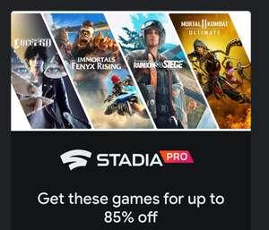 Stadia Pro Angebote (Rainbow Six Siege, FIFA, Immortals, Judgment, Madden, Mortal Kombat, Star War Jedi Fallen Order)