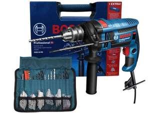 Bosch Professional 16 RE Schlagbohrmaschine (750 Watt, 2,3 Nm, inkl. Zusatzgriff, Koffer & Zubehör-Set)
