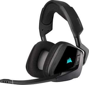 Corsair Void Elite RGB Wireless Gaming Headset (7.1 Surround Sound, 12m Reichweite, 16h Akku, Mikrofon, iCUE RGB, für PC & Playstation)