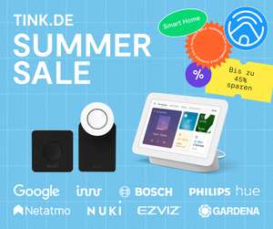 tink Summer Sale - 2x Senic Lichtschalter 99€ | Sonos Roam + Tile Mate 179€ | Nuki Komplettset 299€ | etc.
