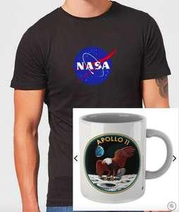 NASA Bundle bestehend aus T-Shirt (für Kinder, Frauen oder Männer, Gr. XS-5XL, 100% Baumwolle) und Tasse für 9,99€ + 2,99 VSK