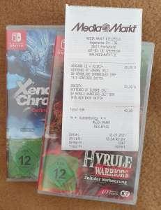 [Lokal Media Markt Bielefeld] Nintendo Switch: Xenoblade Chronicles D.E. 10€, Hyrule Warriors Z.d.V. 20€ u.m.