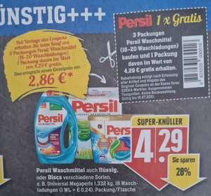 Persil 3 kaufen 2 bezahlen bei Vorlage des Coupons 1 Packung Gratis Wert 4,29€ Edeka Südwest Lokal RPL ?