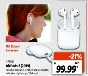 [Lokal Lidl Lübeck,Bremen,Münster,Hürth ab 12.07] Apple AirPods 2 für 94.99€