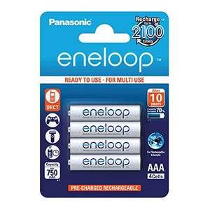 Panasonic eneloop Ni-MH Akku, AAA Micro, 4er Pack, min. 750 mAh {PRIME}