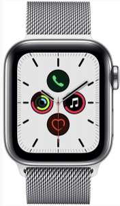 Apple Watch Series 5 GPS + Cellular 40mm Edelstahl Milanaise Armband Silver