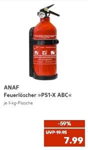 ANAF Feuerlöscher *PS1-x ABC* 1 kg ABC Pulver inc. Druckanzeiger für 7,99€