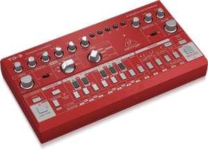 Behringer TD-3-RD Analog Bass Line Synthesizer (VCO, VCF, 16-Stufen-Sequenzer, Verzerrungseffekte, 16-stimmige Poly-Kette) Rot